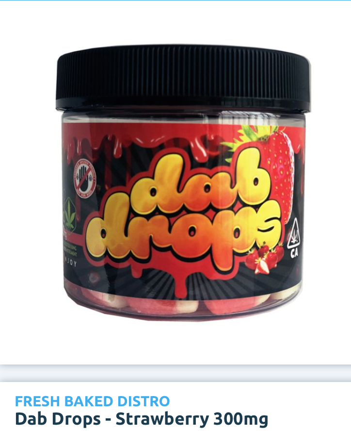 Dab Drops Gummie Candy - Strawberry  300mg... (Edibles)