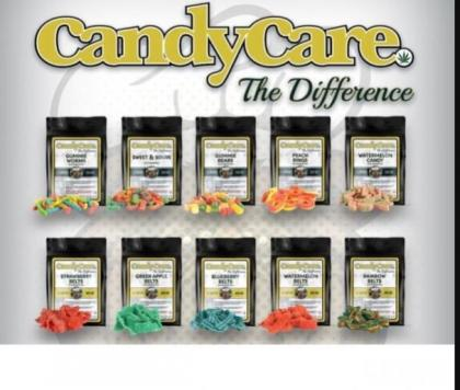 Candy Care 400mg Green Apple Belts Indica/Sativa... (Edibles)